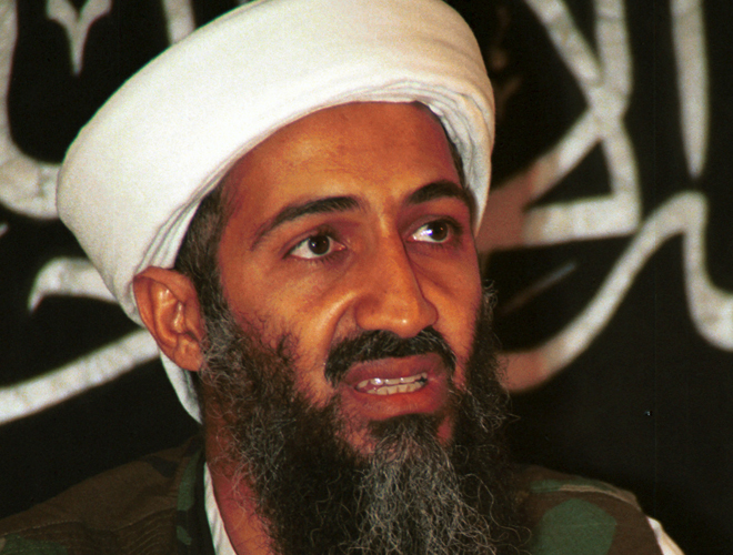 bin laden in a blender. killed -- gave in Laden a