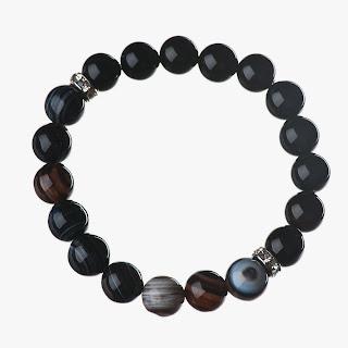 gemstone bracelet, elisha francis, onyx, agate, designer jewelry, luxury jewellery