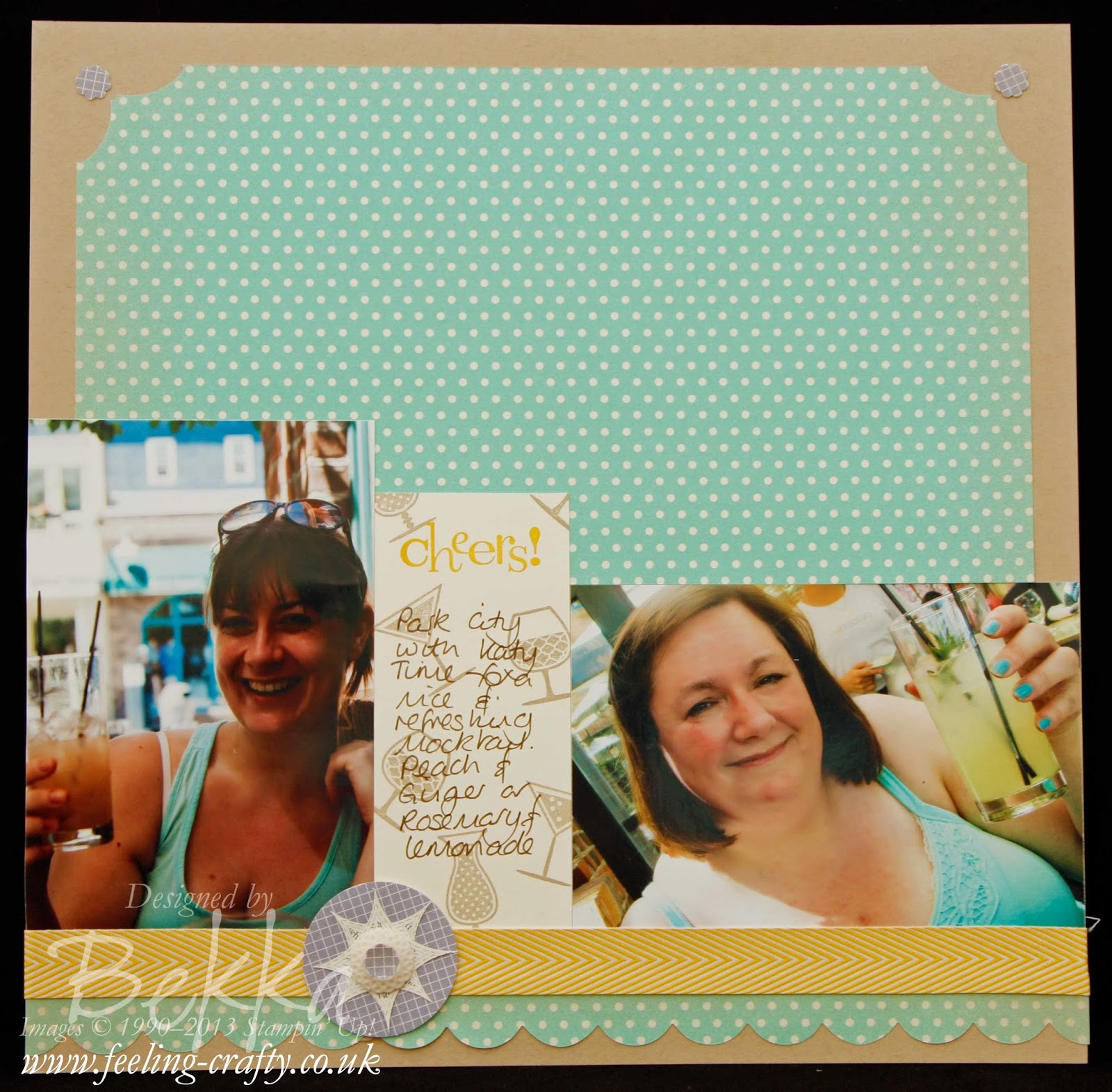 Scrapbook Page featuring the Afternoon Picnic Papers by Stampin' Up! Demonstrator Bekka - she shows a scrapbook page on her blog ever Saturday