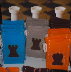 Designer chess art cell phone bags