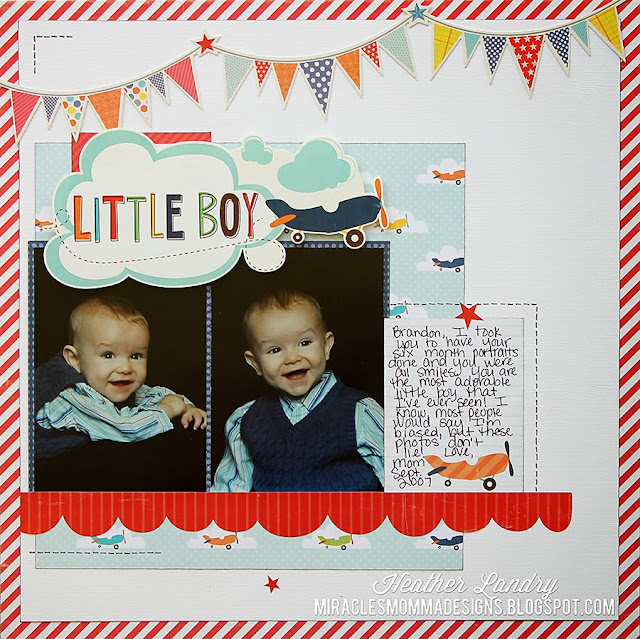 Six Month Old_Baby Boy_Scrapbook Page