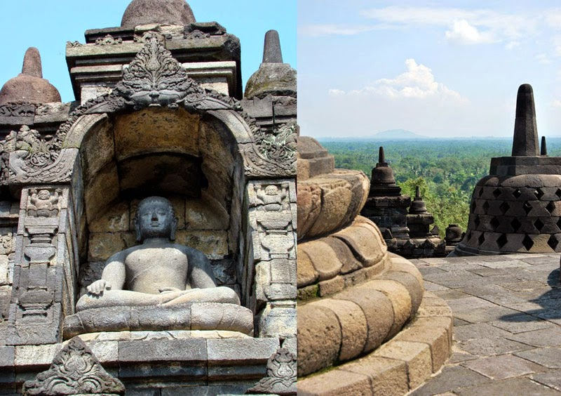 Le temple bouddhiste de Borobudur