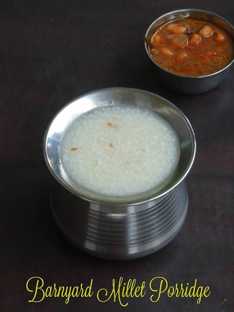 Barnyard Millet Porridge, Kuthiravali Kanji