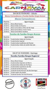 ORDEM DESFILE CARNAVAL GUARULHOS 2016