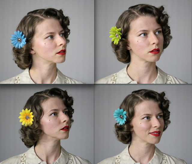 Hair Flowers for Everyday! #vintage #pinup #hair #retro #hairstyle #flower