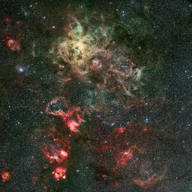 Stunning image of the Tarantula Nebula and its surroundings!