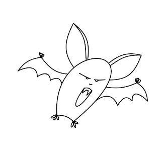 how to draw a bat video