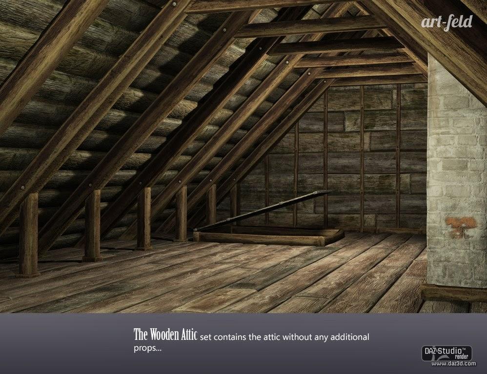 DAZ 3D - Le Grenier bois