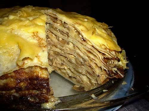 Торт с бисквитными коржами и фруктами рецепт