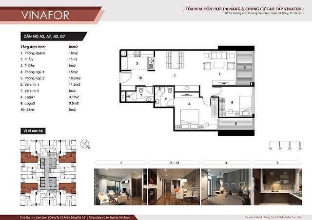 mặt bằng thiết kế căn hộ diện tích 116m2 chung cư vinafor 48 vạn phúc