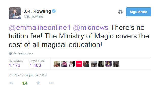 Precio de Hogwarts | J.K.Rowling