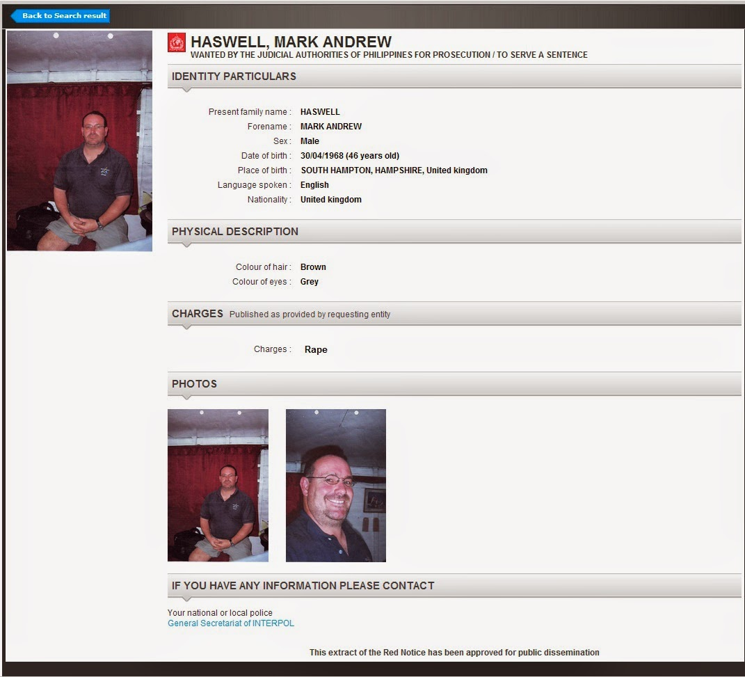 Mark Andrew Haswell Interpol Red Notice 2