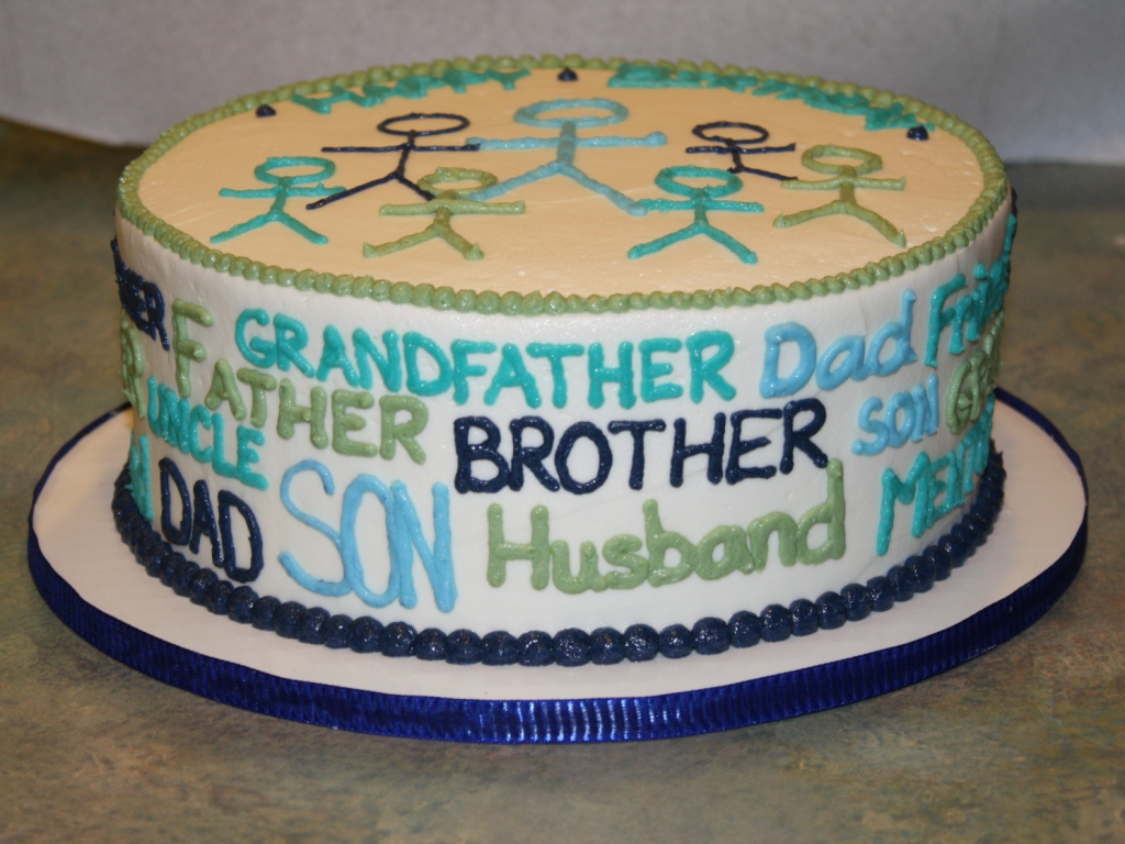 Father-Grandfather-Husband Birthday Cake
