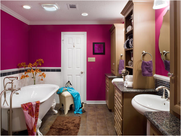 Pink Teen Girl Bathroom
