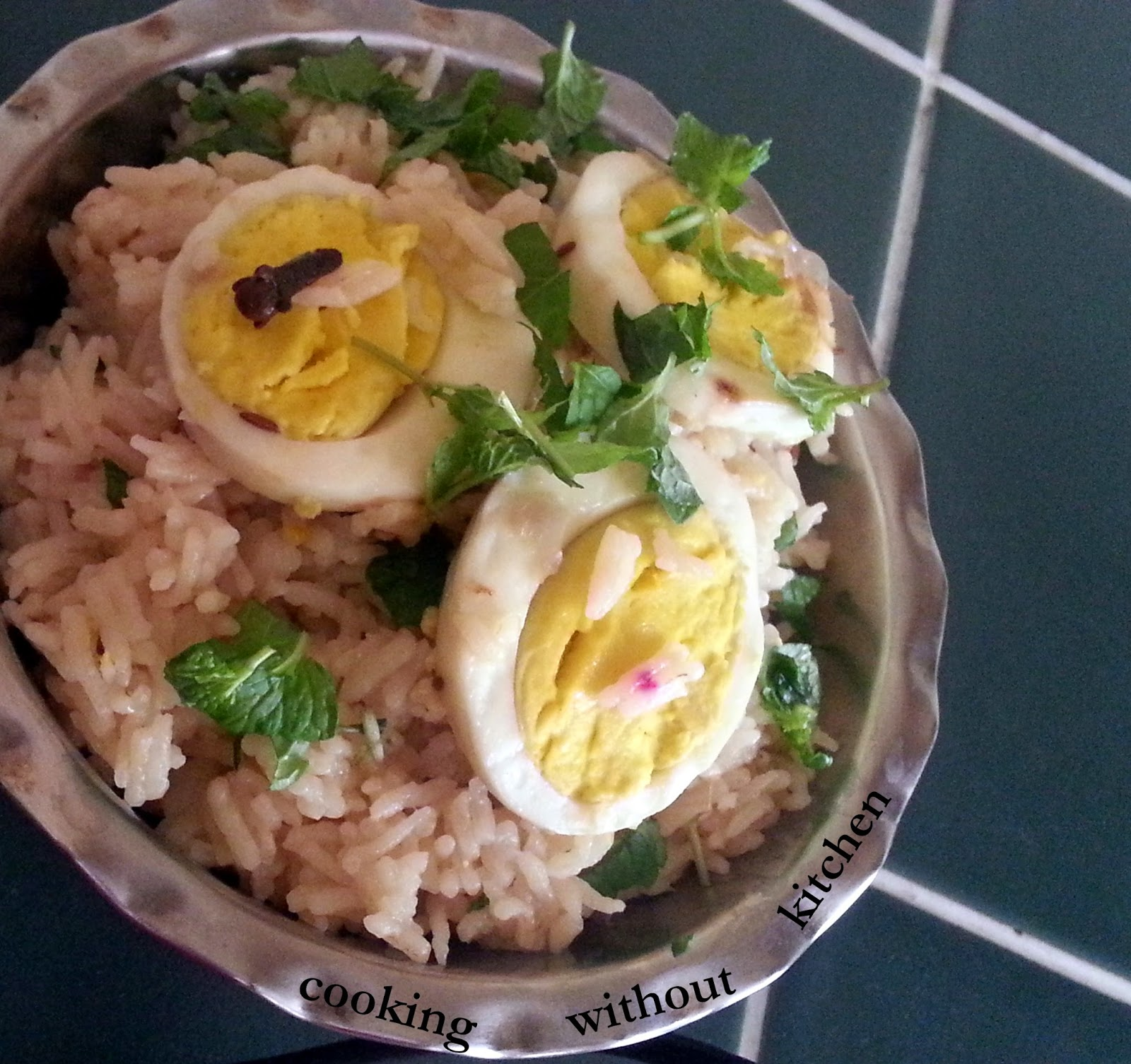 Shahi egg biryani