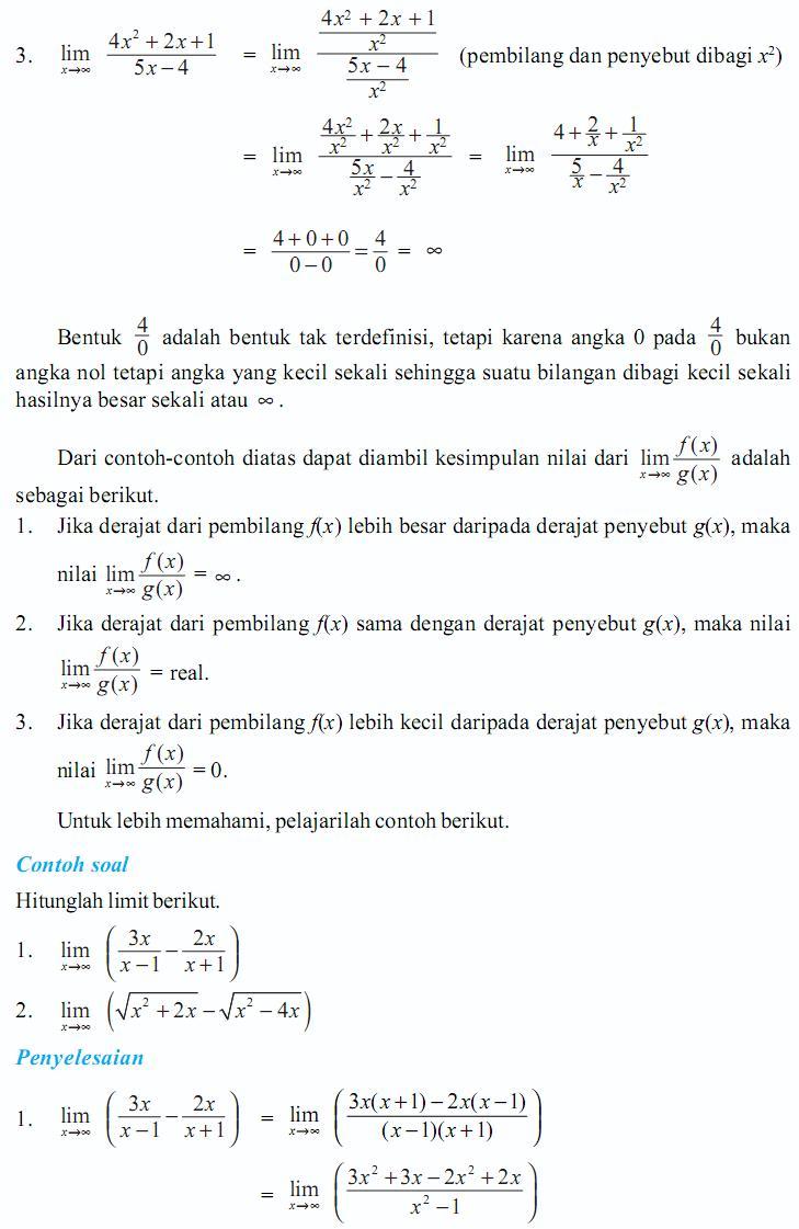 Soal Dan Jawaban Sekolah Artikel Pendidikan Materi Ajar Matematika Xi Ipa Bab Fungsi Limit