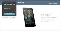 Google Nexus 7 on Google Play Store India