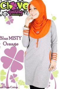 Clover Clothing Blus Misty - Orange (Toko Jilbab dan Busana Muslimah Terbaru)