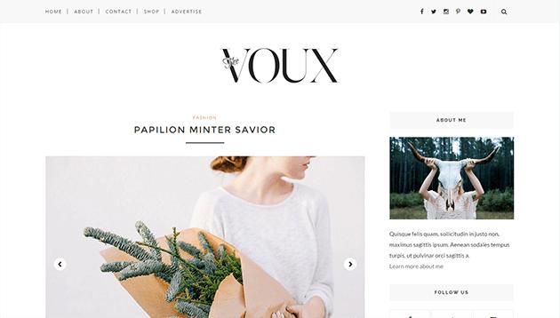 Voux - Minimal & Responsive Blogger Template