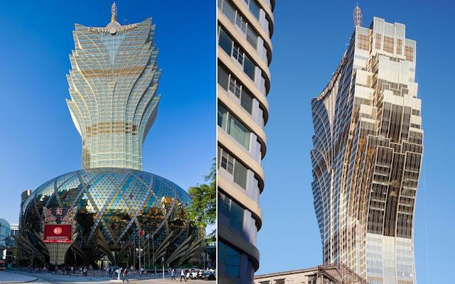 El hotel «Grand Lisboa» en Hong Kong