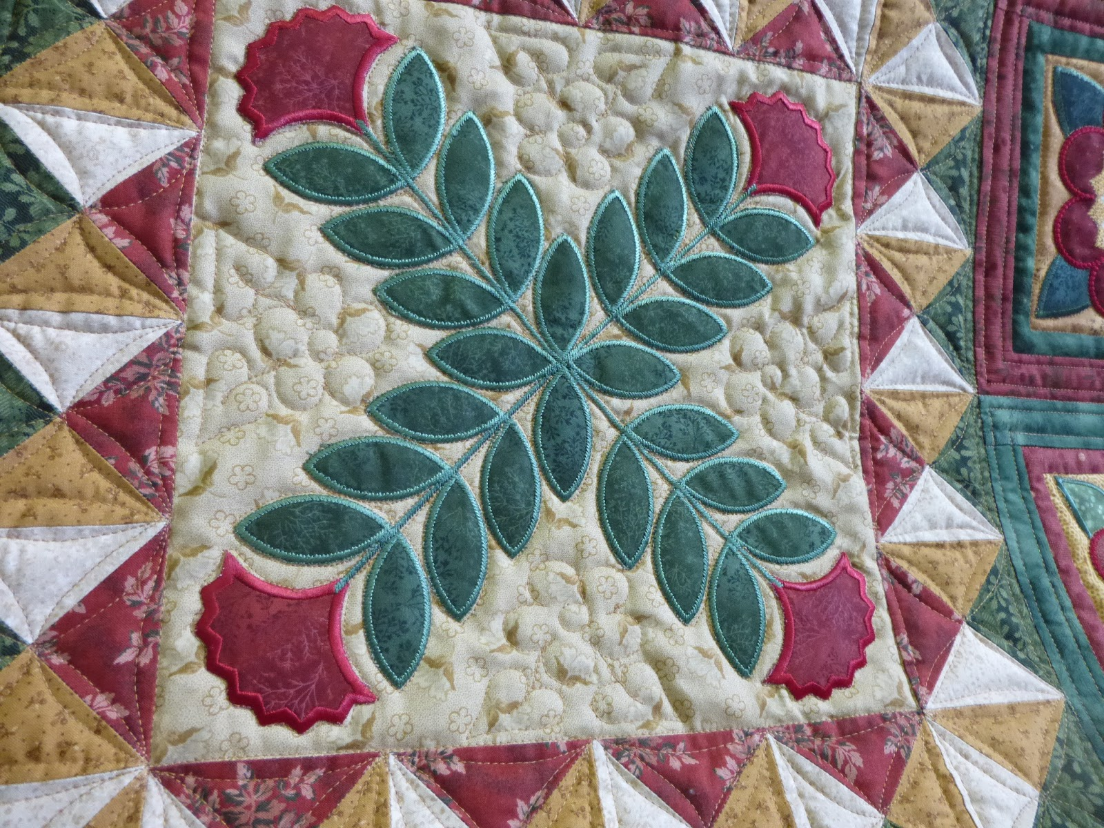 Caledonia quilter embroidered applique and winter prep