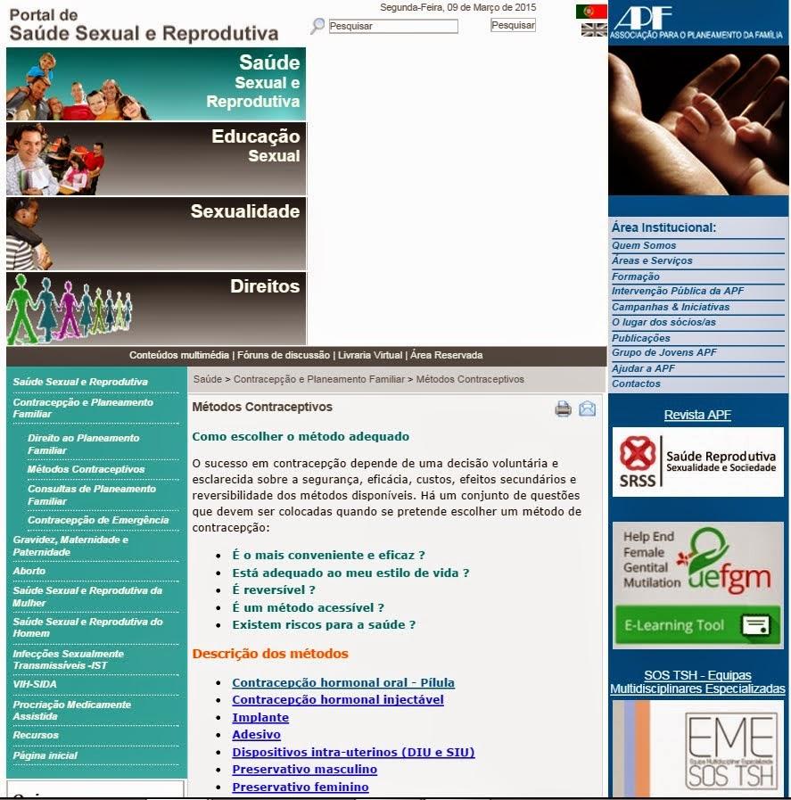 Portal da Saúde Sexual e Reprodutiva