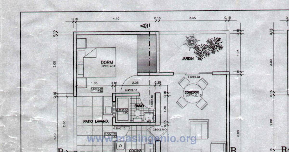Autocad tutoriales tips y trucos curso de autocad - Como hacer un plano de una casa ...
