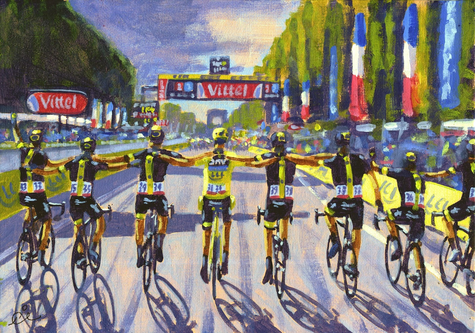PAINTING LE TOUR: Tour de France 2015, stage 21, Champs ...