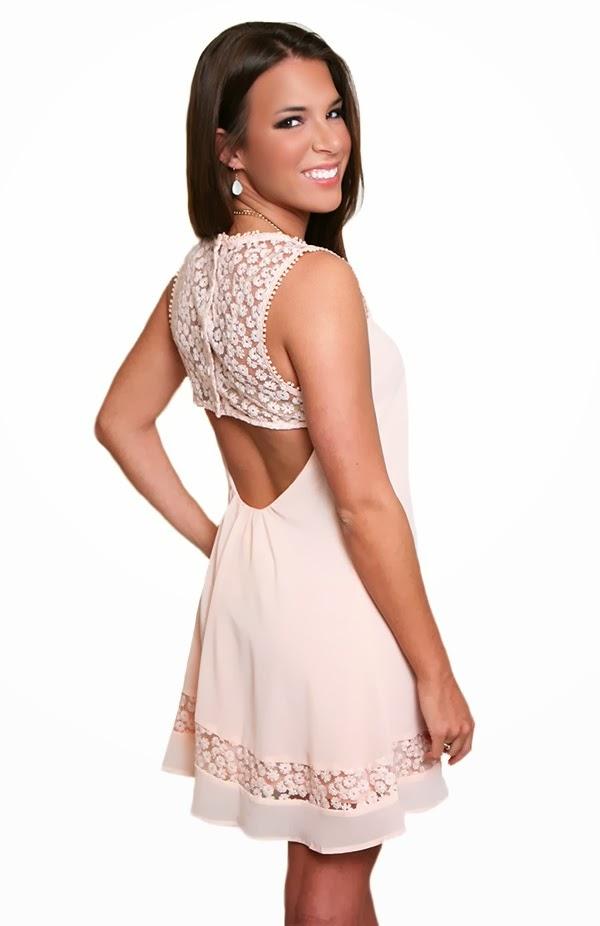 cute blush dress