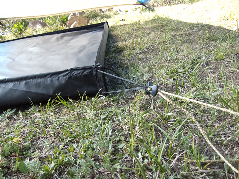 Guy out points use the four stakes already in use for the main tent body. Lineloc tensioners pull everything tight. & Living in the Southwest: Improving the Black Diamond Megalight.