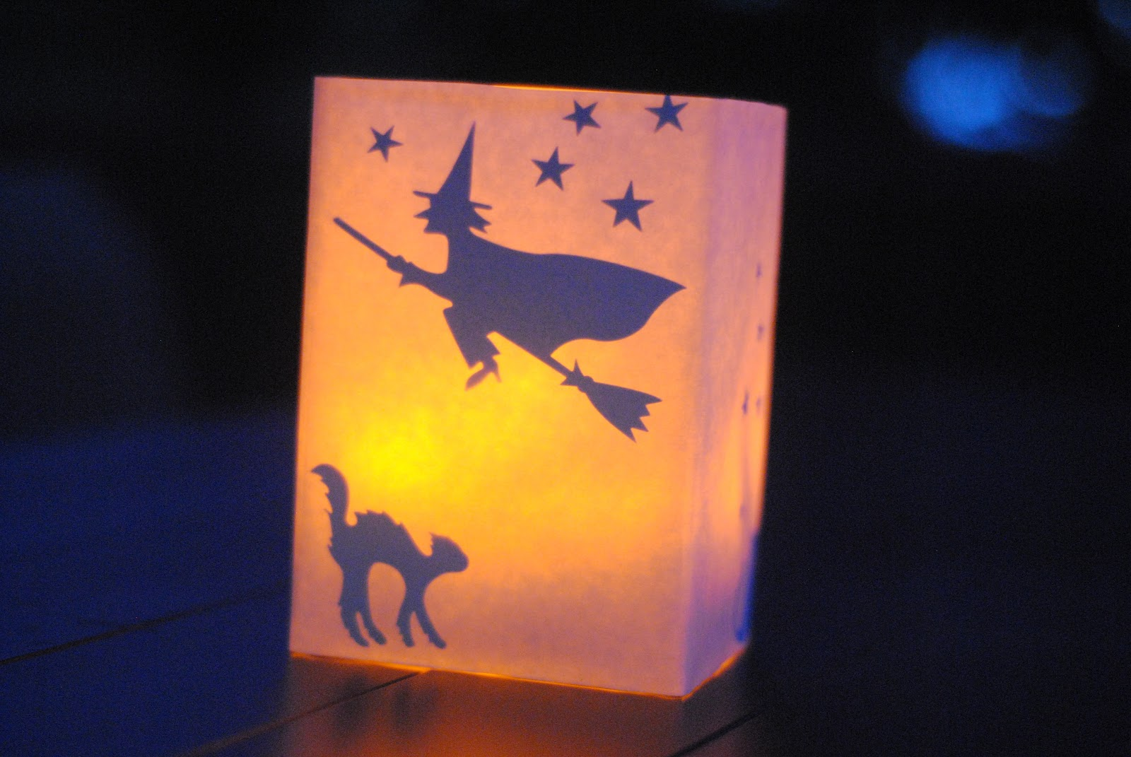 DIY Halloween Luminaries for Cheap Halloween Decor