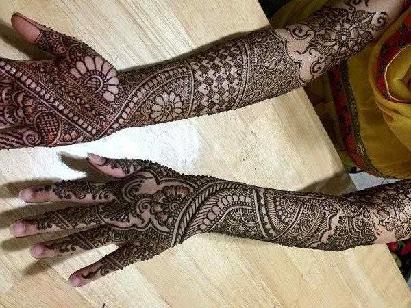 Dulhan Mehndi Designs For Full Hands 2014 : Bridal mehndi designs arabic for hands
