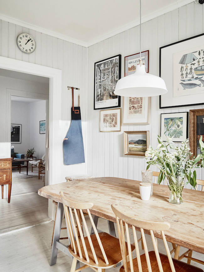 My scandinavian home country style in a modern flat Scandinavian style dining room