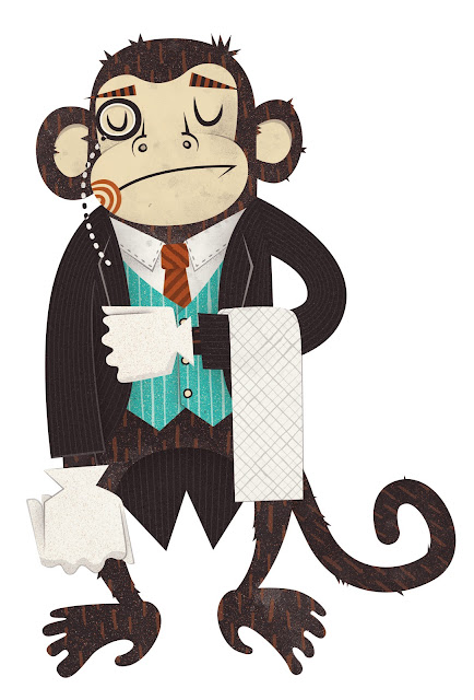 V Monkey Butler Joe McLean Illustratio...