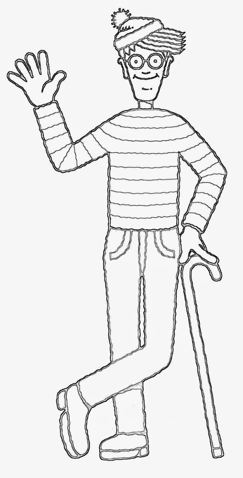 wheres waldo coloring pages - photo#18