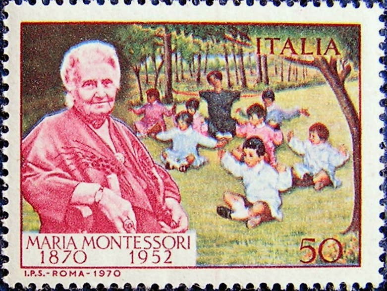 sello de María Montessori