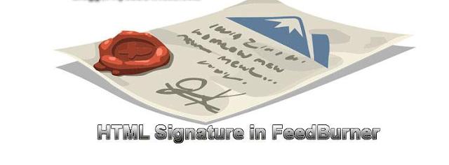 Add HTML Signature/Backlink Below Every Post In FeedBurner Feed