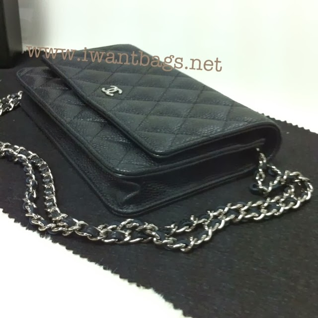 Chanel Classic Quilted Woc Caviar In Black