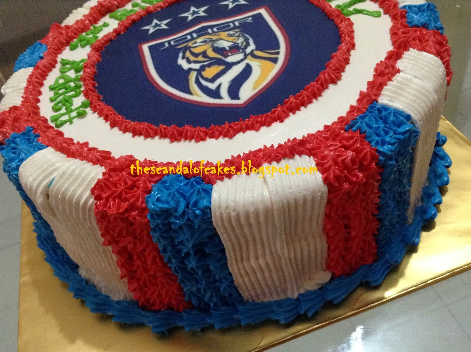 Edible Cake Images Football : JDT Football Cake - Edible Image The Scandal of Cakes