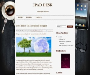 Ipad Desk Blogger Template