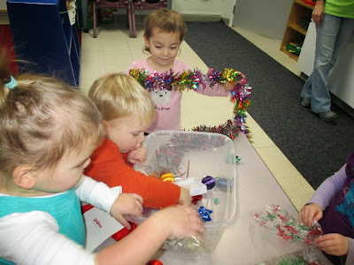 The Pa-Paw Patch, preschool Christmas, vale nc childcare, vale nc daycare, christmas sensory tub