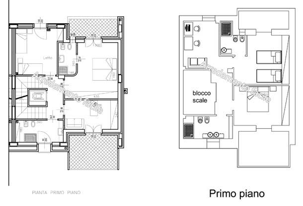 La zona notte della villetta arredamento facile for Cabina a 2 piani