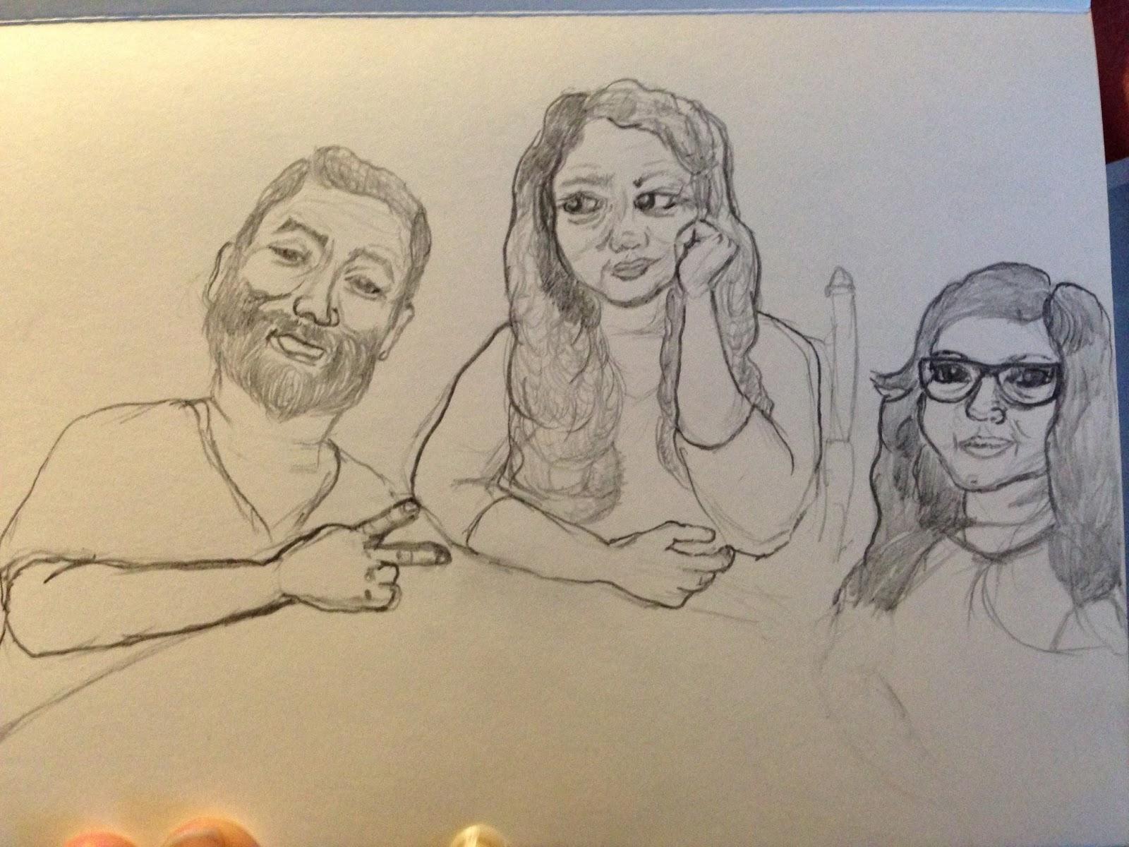 Cristina carlino family - Family Drawing A La Carmen Lomas Garza