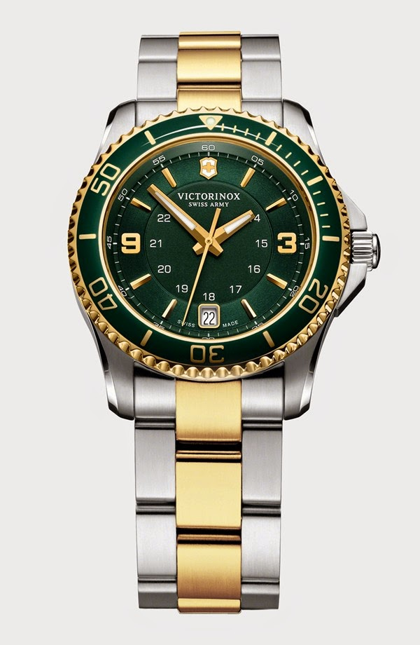 Victorinox Swiss Army Men's Maverick Gs Green Dial Swiss Quartz Watch