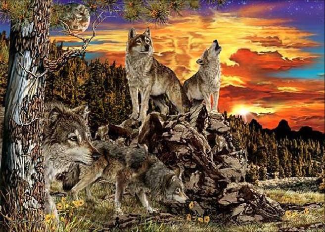 Притча стая волков и три охотника