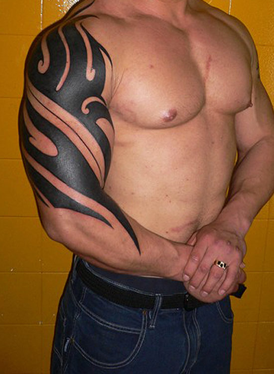 tribal tattoo on arm arm tattoo for men arm tattoo designs cool arm ...