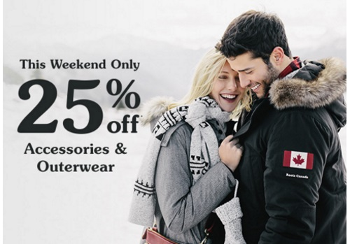 Roots 25% Off Accessories & Outerwear
