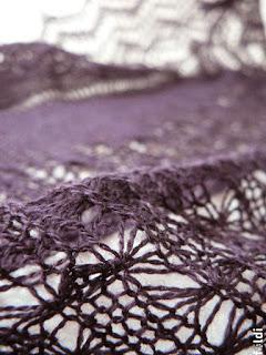 passap machine knitted triangular lace scarf