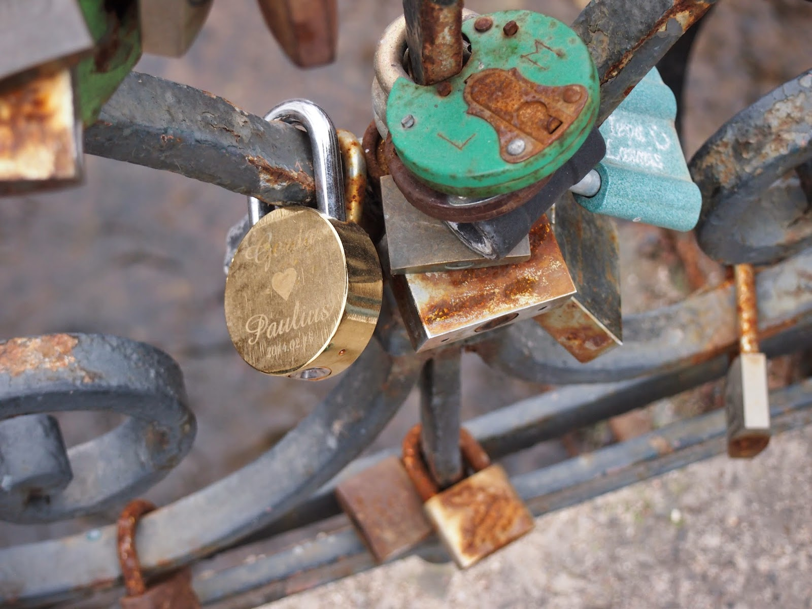 love locks in Vilnius, Lithuania