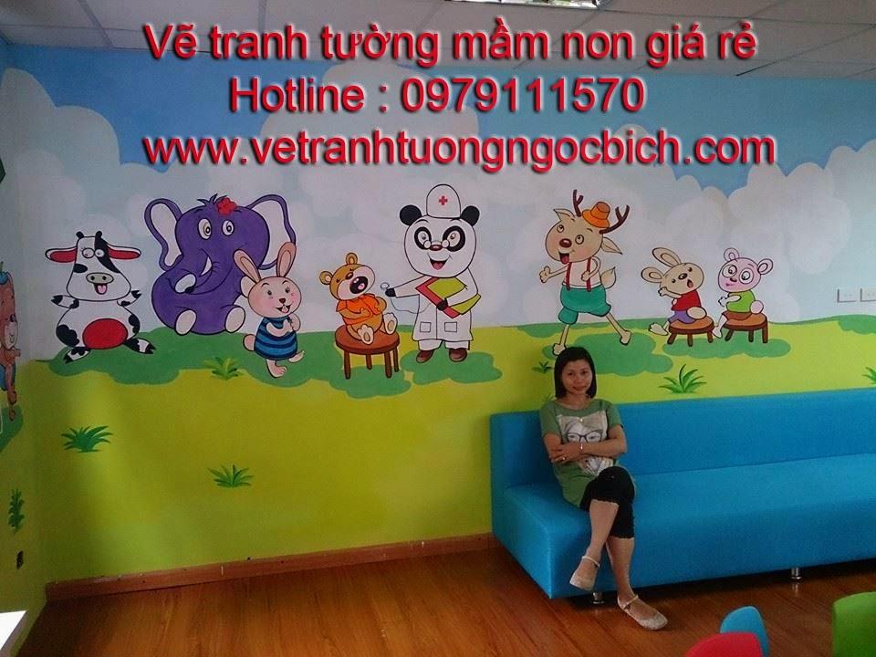 Vẽ tranh tường mầm non bệnh viện Medelab 04